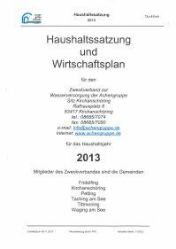 Haushaltsplan 2013
