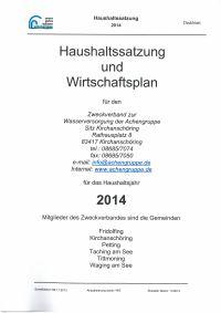 Haushaltsplan 2014